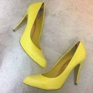 Ted Baker London Yellow Patent Leather Heels